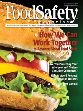 Food Safety Magazine cover